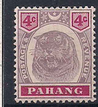 Pahang - 1899 Wild Animal Mlh - Vf 18 photo