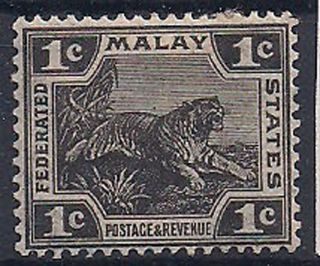 Malaya - 1922 Wild Animal Mlh - Vf 51 photo