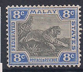 Malaya - 1901 Wild Animal Mlh - Vf 19 photo