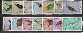 El Salvador - 1963 Wild Animals Mlh - Vf 856 - 69 photo