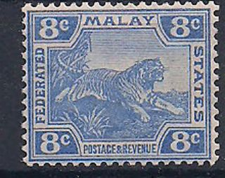 Malaya - 1906 Wild Animal Mlh - Vf 42a photo