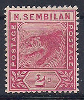 N.  Sembilan - 1891 Wild Animal Mlh - Vf 3 photo