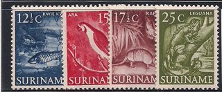 Suriname 1953 - 5 Wildlife Mlh - Vf 338 - 40+342 photo