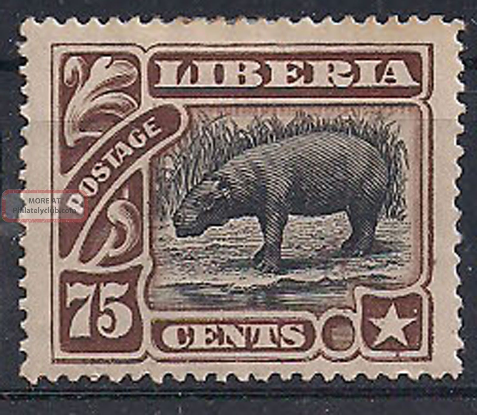 Liberia - 1906 Wildlife Mlh - Vf 102 Animal Kingdom photo