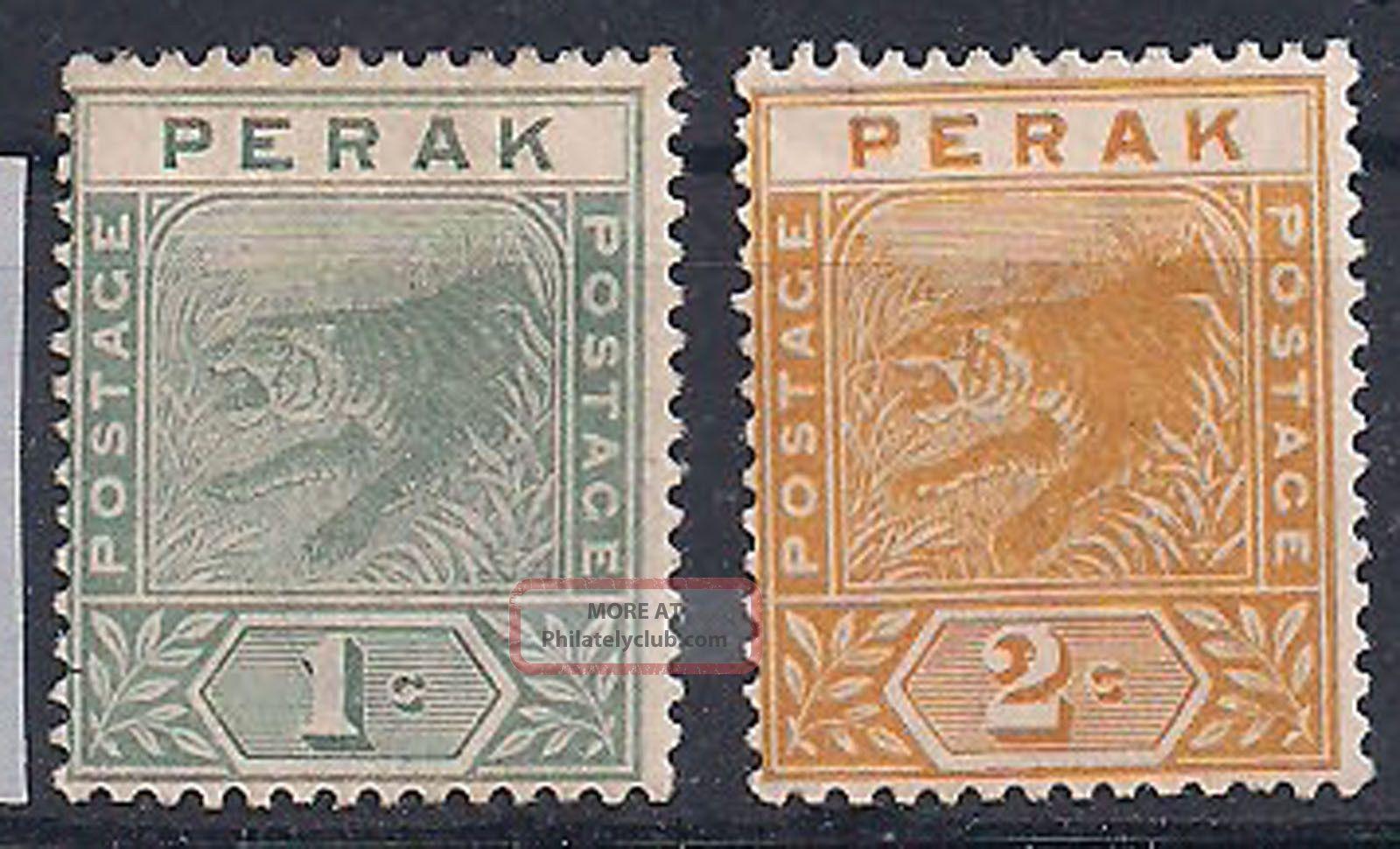 Perak - 1892 Wild Animal Mlh - Vf 14+16 Animal Kingdom photo