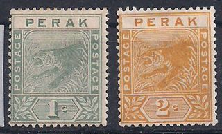 Perak - 1892 Wild Animal Mlh - Vf 14+16 photo