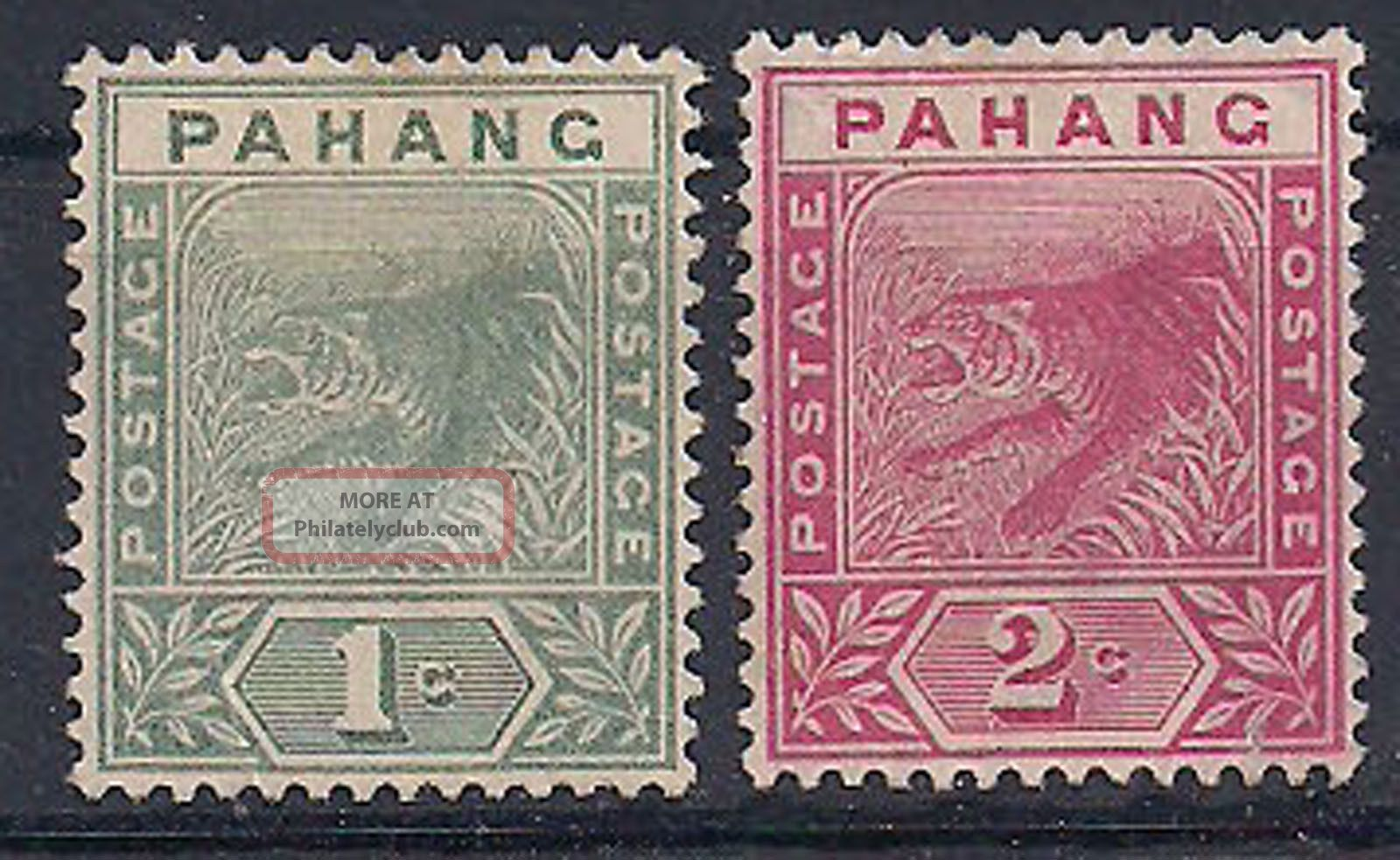 Pahang - 1891 Wild Animal Mlh - Vf 5 - 6 Animal Kingdom photo