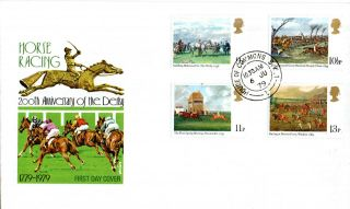 6 June 1979 Horseracing Post Office First Day Cover House Of Commons Sw1 Cds photo