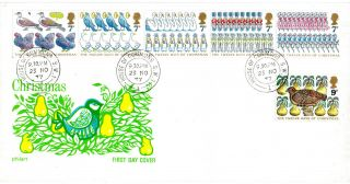 23 November 1977 Christmas Philart First Day Cover House Of Commons Sw1 Cds photo