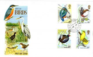 16 January 1980 British Birds Philart First Day Cover House Of Commons Sw1 Cds photo