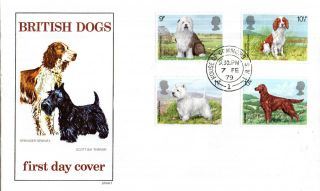 7 February 1979 Dogs Philart First Day Cover House Of Commons Sw1 Cds photo
