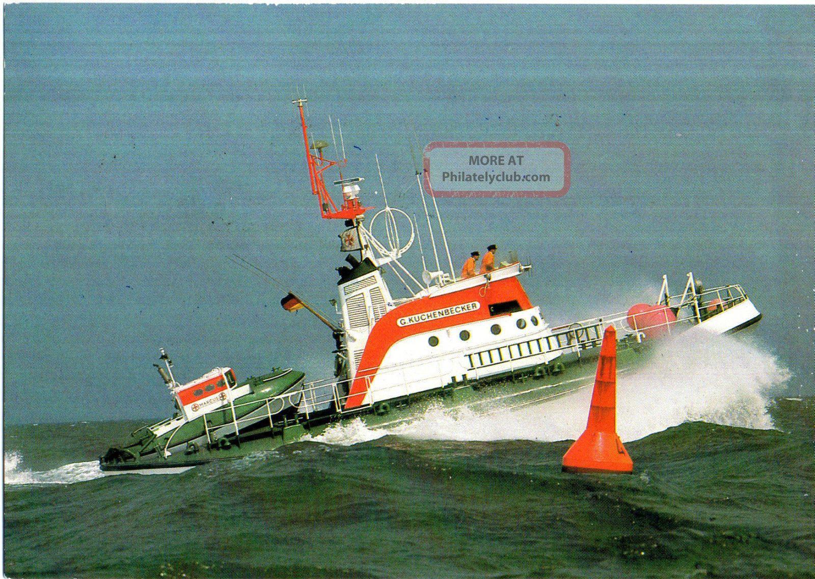 1990 German Lifeboat Gunter Kuchenbecker 2 Cached Colour Postcards Europe photo