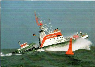 1990 German Lifeboat Gunter Kuchenbecker 2 Cached Colour Postcards photo