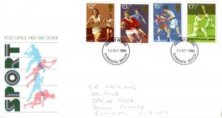 10 October 1980 Sport Centenaries Post Office First Day Cover Plymouth Fdi photo