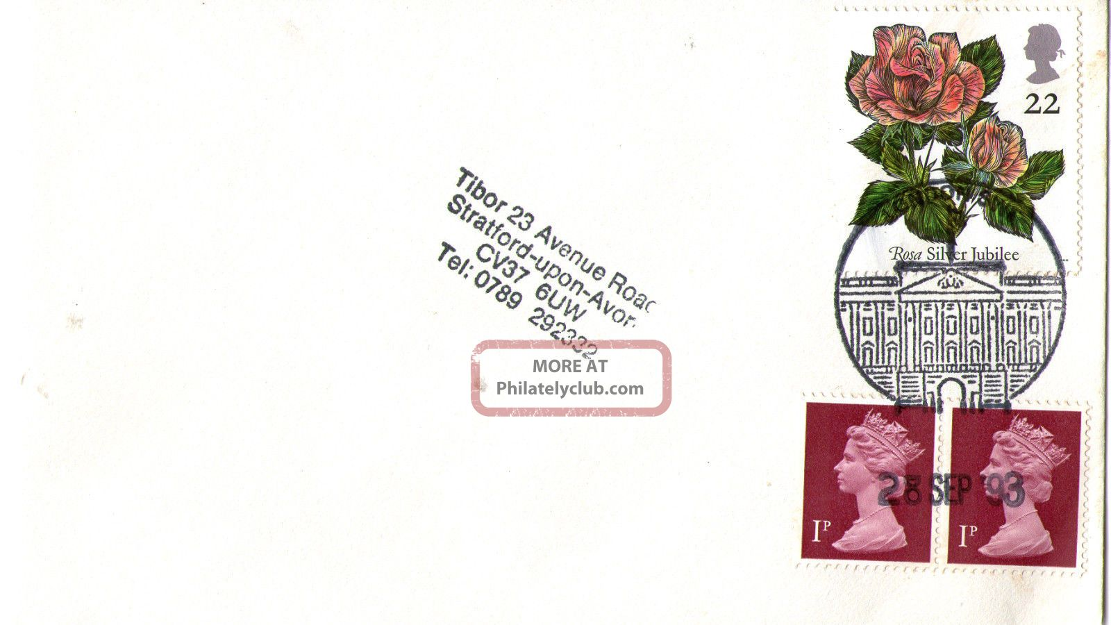 28 September 1993 Roses Cover Buckingham Palace London Sw1 Shs Topical Stamps photo