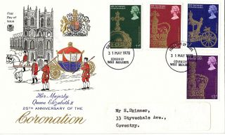 31 May 1978 25th Anniversary Of The Coronation Stuart First Day Cover Fdi photo