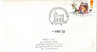 9 November 1993 Christmas First Day Cover Windsor Philatelic Counter Shs (c) photo