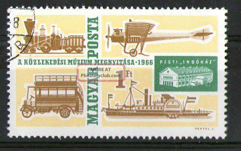 Hungary 1966 Transport Bus Ship Plane Train Commemorative Stamp Sg 2182 Vfu Europe photo