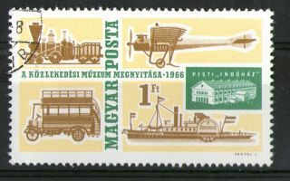 Hungary 1966 Transport Bus Ship Plane Train Commemorative Stamp Sg 2182 Vfu photo