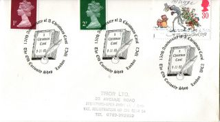 9 November 1993 Christmas First Day Cover The Old Curiosity Shop London Wc2 (a) photo