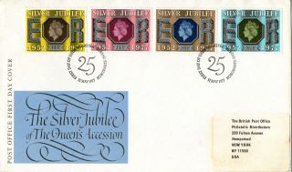 11 May 1977 Silver Jubilee Post Office First Day Cover Bureau Shs photo
