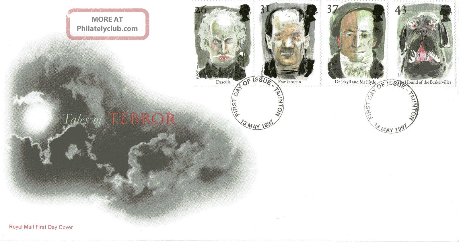 13 May 1997 Tales Of Terror Royal Mail First Day Cover Taunton Fdi Topical Stamps photo