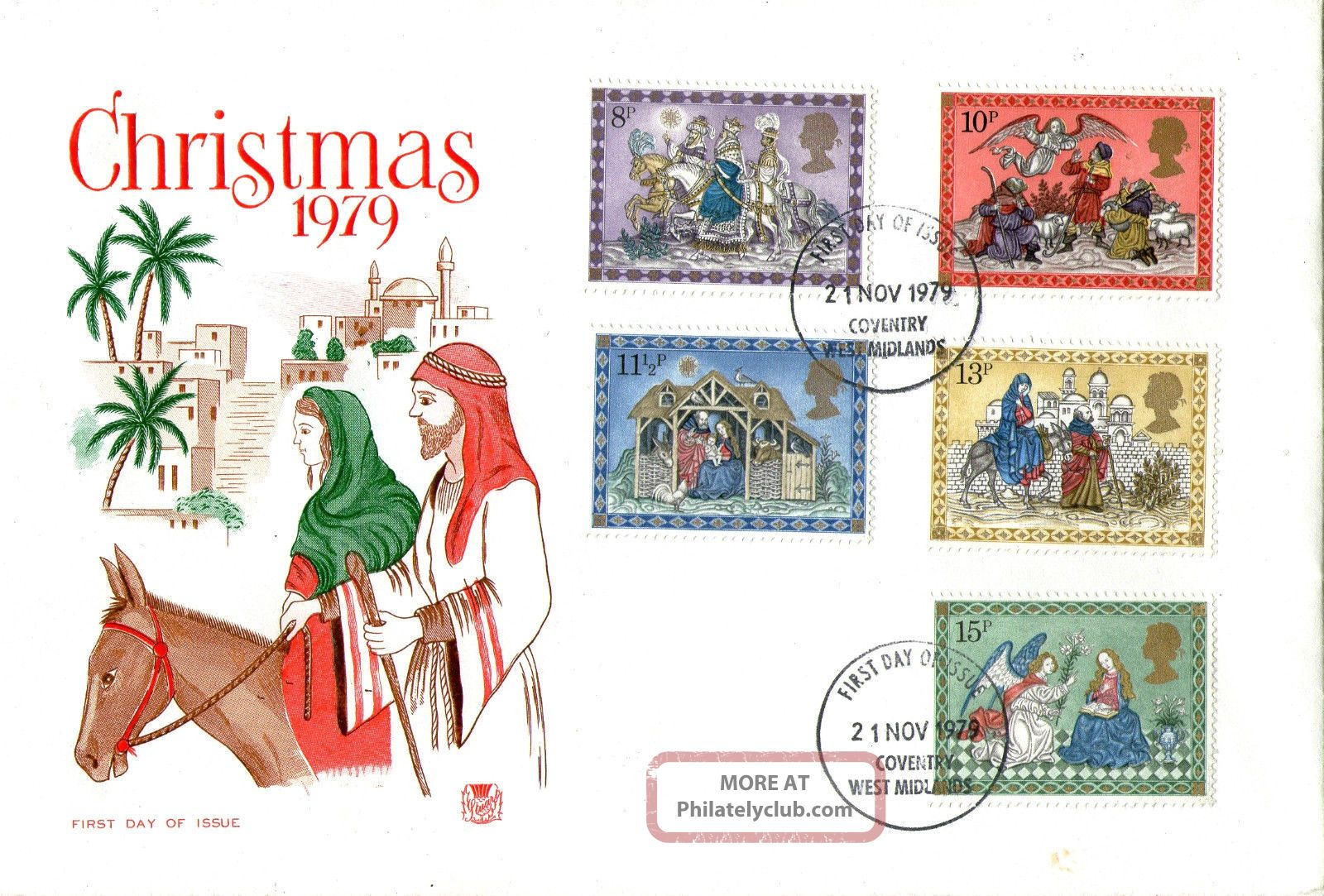 21 November 1979 Christmas Stuart First Day Cover Coventry Fdi Topical Stamps photo