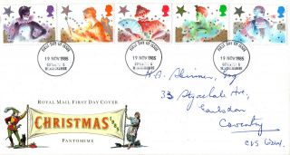 19 November 1985 Christmas Royal Mail First Day Cover Coventry Fdi photo