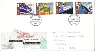 10 May 1988 Transport & Communication Rm First Day Cover Kingston U Thames Fdi photo