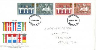 15 May 1984 Europa Royal Mail First Day Cover Bradford W Yks Fdi photo