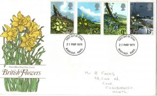 21 March 1979 Spring Flowers Post Office First Day Cover Aldershot Fdi photo