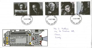 8 October 1985 British Film Year Royal Mail First Day Cover Hastings Sussex Fdi photo