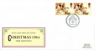 20 November 1984 Christmas Royal Mail First Day Cover Bethlehem Shs photo