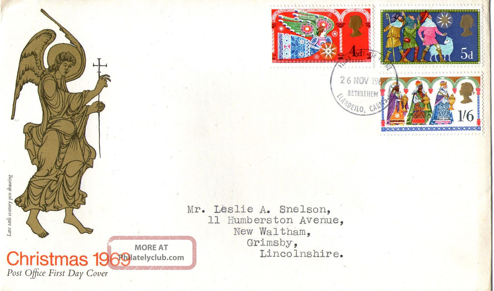 26 November 1969 Christmas Post Office First Day Cover Better Bethlehem Fdi (a) Topical Stamps photo