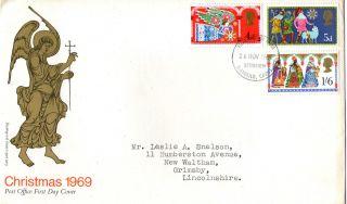 26 November 1969 Christmas Post Office First Day Cover Better Bethlehem Fdi (a) photo