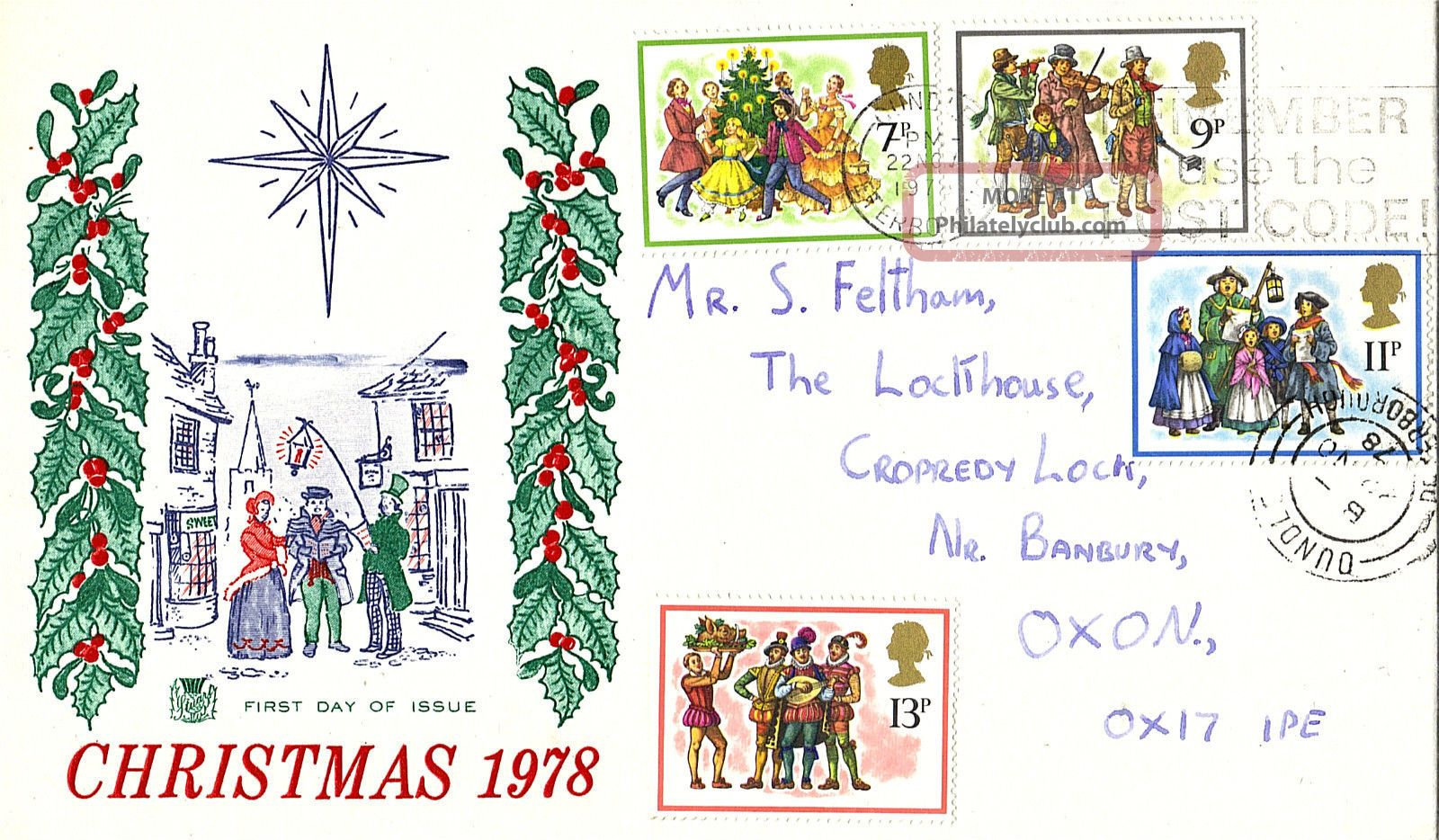 22 November 1978 Christmas Stuart First Day Cover Peterborough Topical Stamps photo