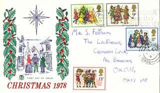 22 November 1978 Christmas Stuart First Day Cover Peterborough photo