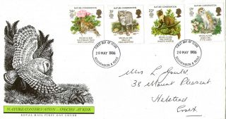 20 May 1986 Nature Conservation Royal Mail First Day Cover Bournemouth Fdi photo