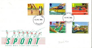 15 July 1986 Commonwealth Games Royal Mail First Day Cover Plymouth Fdi photo