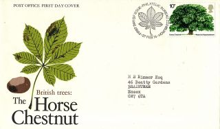27 February 1974 The Horse Chestnut Tree Po First Day Cover Bureau Shs photo