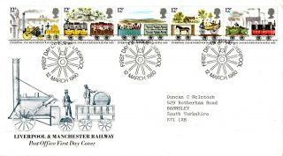 12 March 1980 Liverpool & Manchester Railway Po First Day Cover Liverpool Shs photo