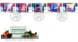 15 November 1988 Christmas Unadd Royal Mail First Day Cover Bethlehem Shs (u) photo
