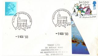 9 November 1993 Christmas First Day Cover Windsor Philatelic Counter Shs (a) photo
