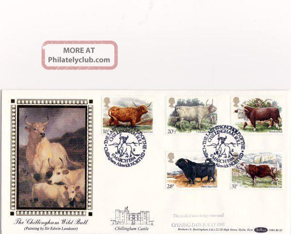 6 March 1984 British Cattle Benham Bls 2 First Day Cover Chillingham Bull Shs Animal Kingdom photo