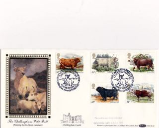 6 March 1984 British Cattle Benham Bls 2 First Day Cover Chillingham Bull Shs photo