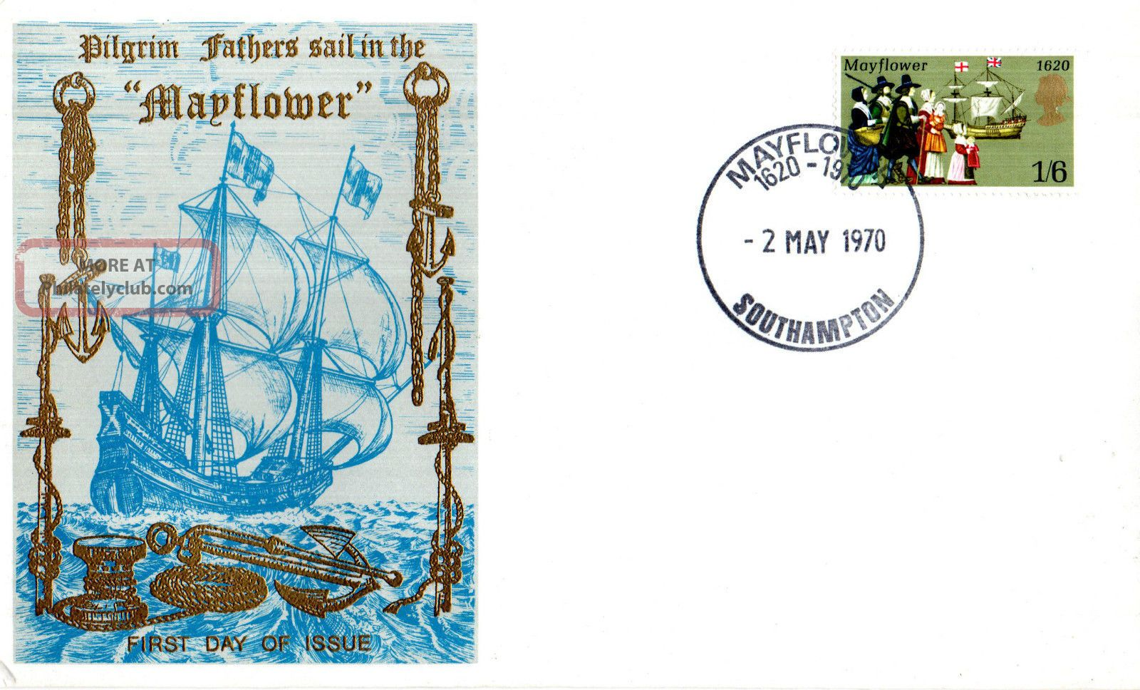 2 May 1970 Mayflower Thames Commemorative Cover Southampton Shs Transportation photo