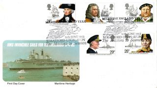 16 June 1982 Maritime Heritage Pps First Day Cover Mission To Seamen Shs photo