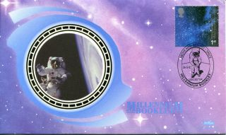 26 May 2000 Millennium Benham Silk First Day Cover Leicester Space Shs photo