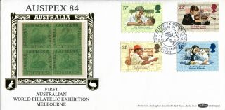25 September 1984 British Council Benham Bocs (2) 31 First Day Cover Ausipex Shs photo