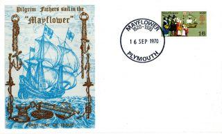 16 September 1970 Mayflower Thames Commemorative Cover Plymouth Shs photo